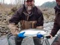 Eric Foley, Jan 20Th 2020, Sandy River with Brandon Glass. 8 lb Steelhead