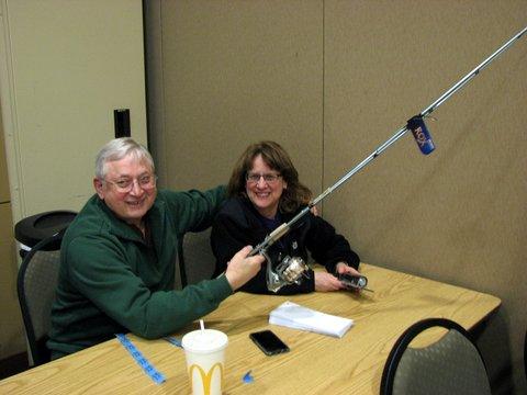 Mr. & Mrs. Ken Chambers were winners of the fishing pole drawing
