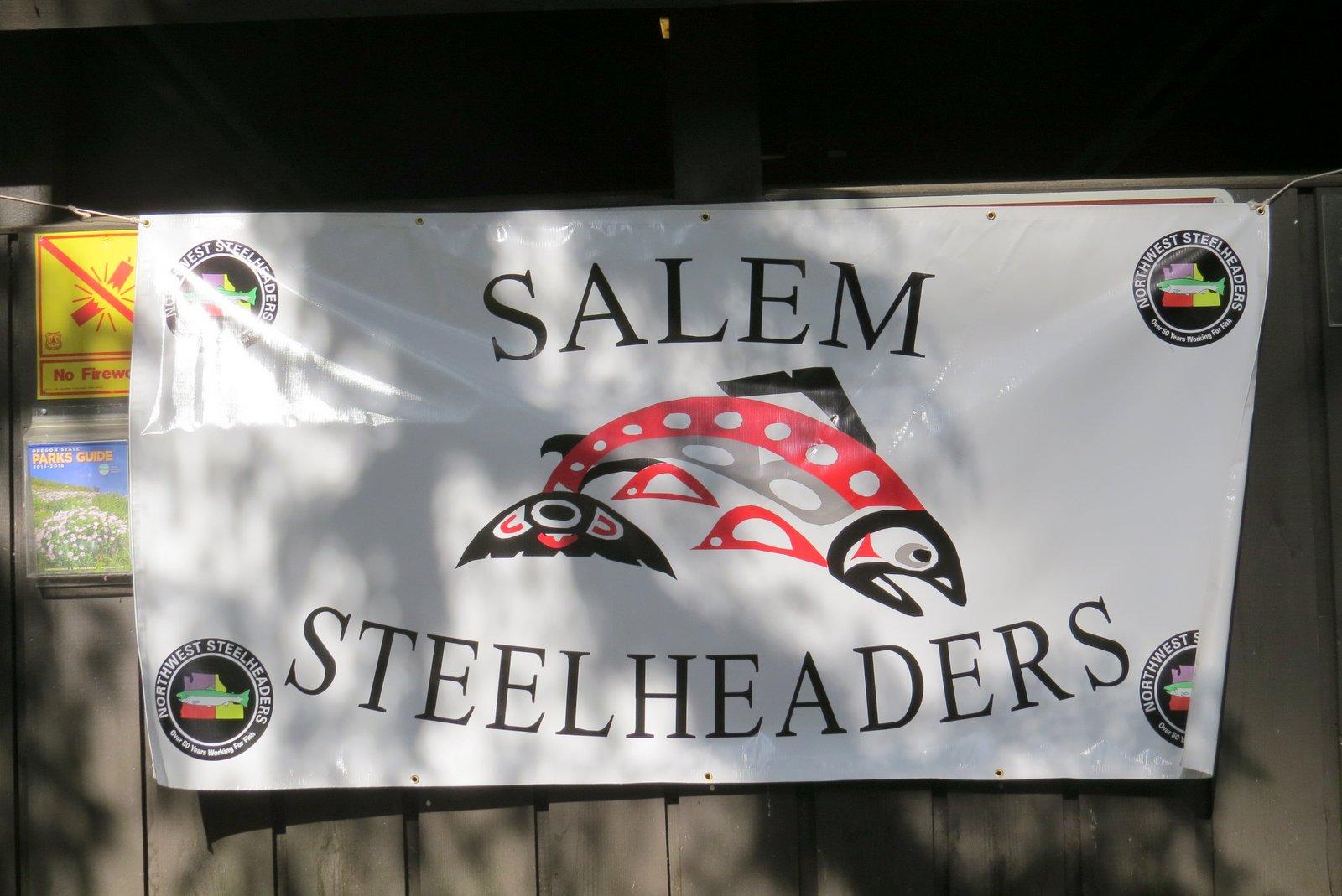 Salem Steelhead Banner sign