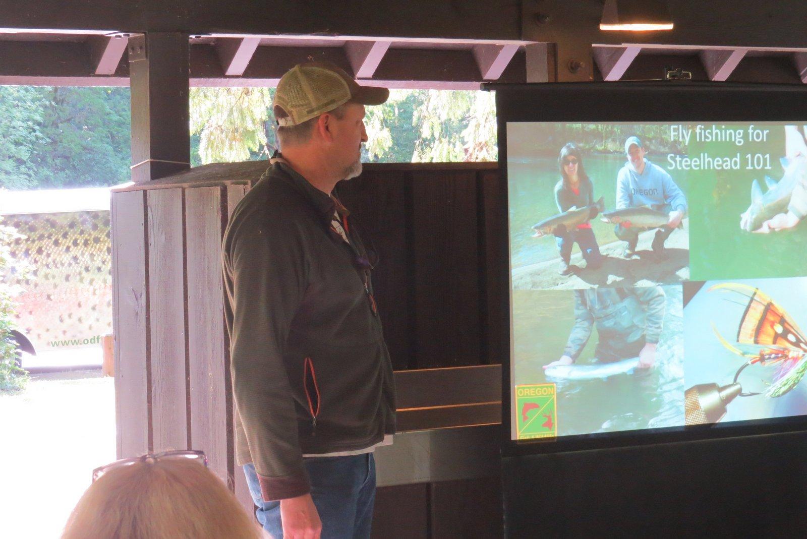 Dave Carpenter teaching fishing technique