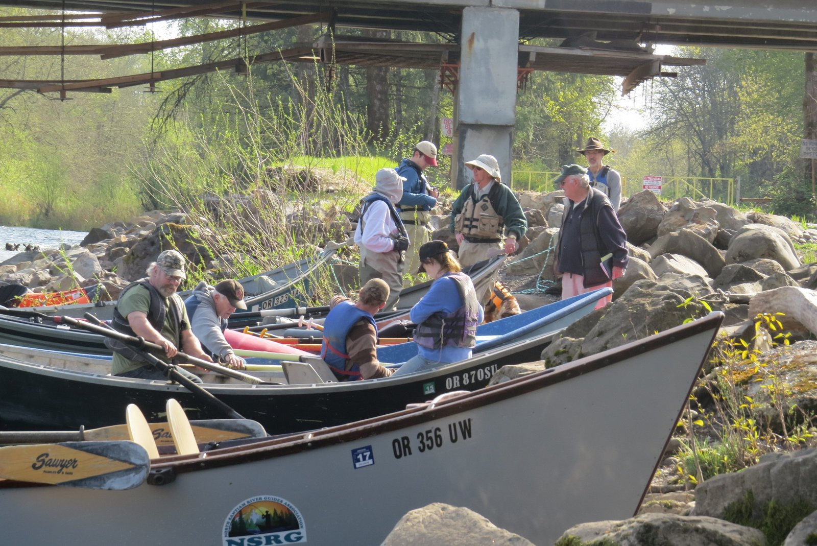 Learn the River trip 5 April 2016 Gearing up