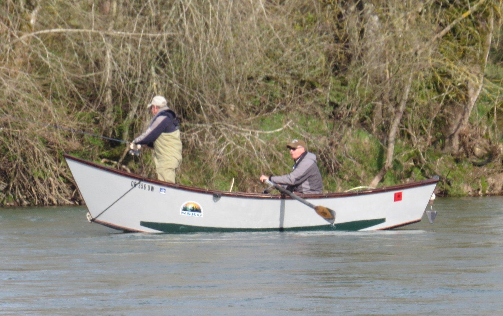 Lucky Larry fishing for a steelhead.